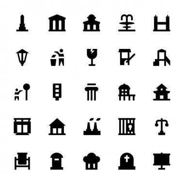 City Elements Vector Icons 9
