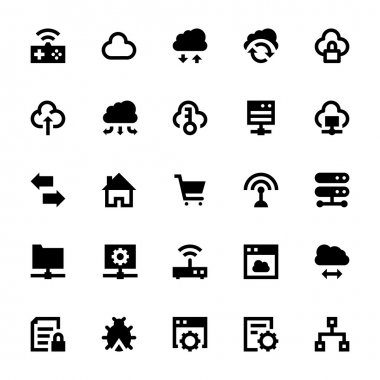 Cloud Data Technology Vector Icons 5