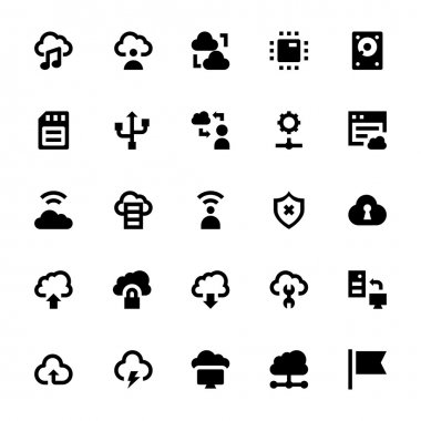 Cloud Data Technology Vector Icons 4