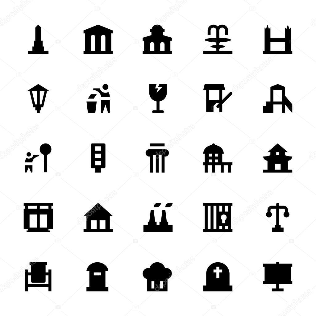 City Elements Vector Icons 9 Creativestall