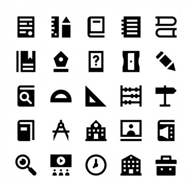 Education and School Vector Icons 1