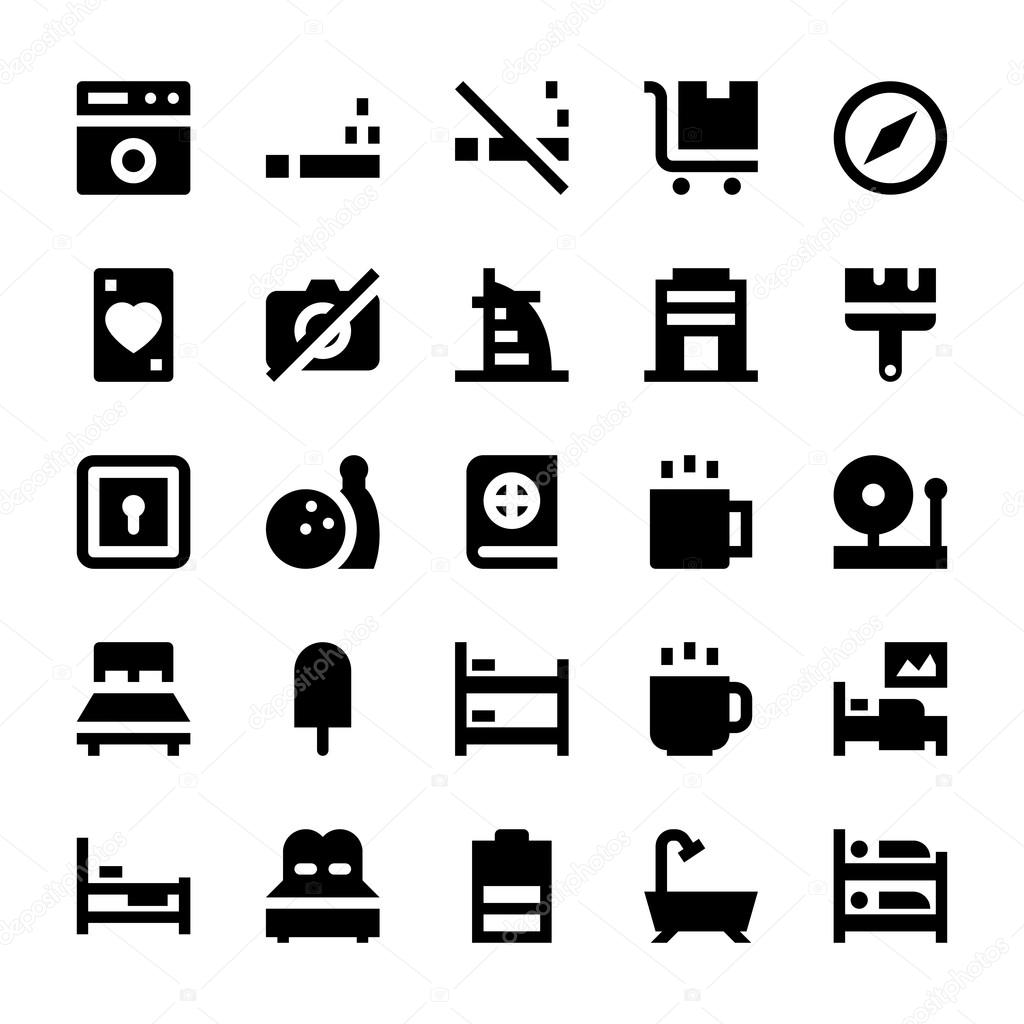 Hotel Services Vector Icons 4 Stock