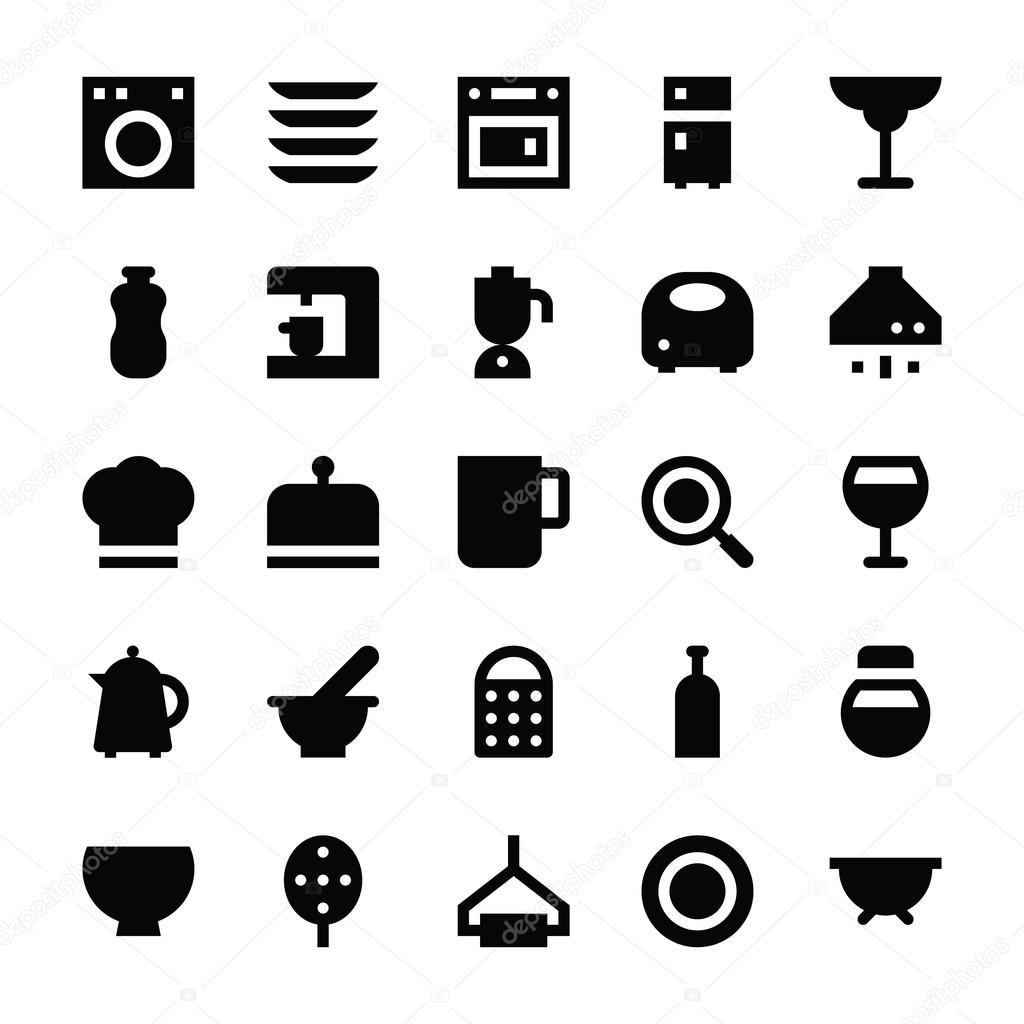 Kitchen Utensils Vector Icons 3 — Stock Vector © creativestall ...