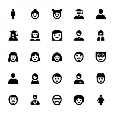 People Avatars Vector Icons 1