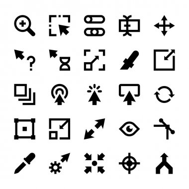 Selection, Cursors, Resize, Move, Controls and Navigation Arrows Vector Icons 2