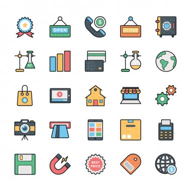 Networking, Web, User Interface and Internet Vector Icons 3