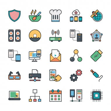 Networking, Web, User Interface and Internet Vector Icons 12