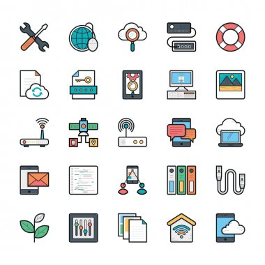 Networking, Web, User Interface and Internet Vector Icons 14