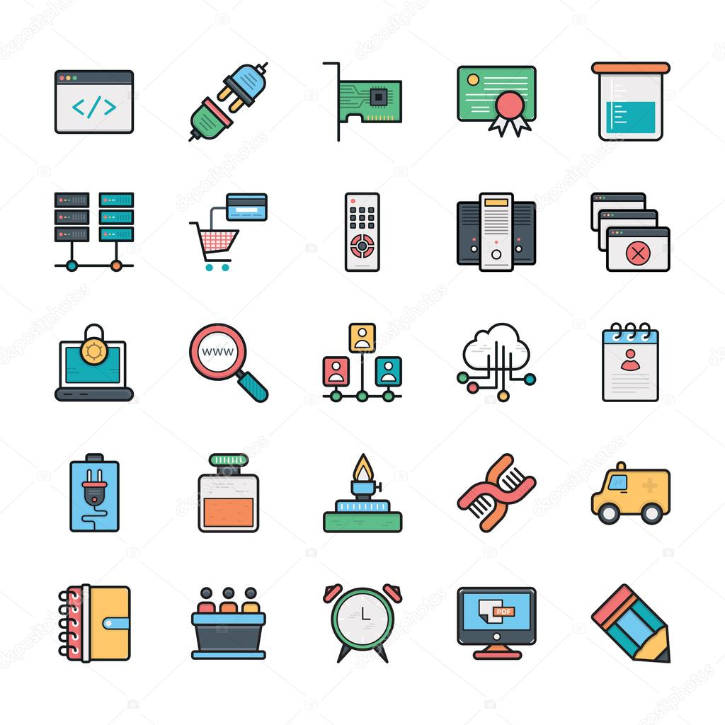 Networking, Web, User Interface and Internet Vector Icons 15