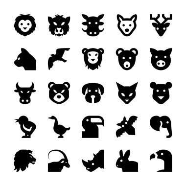 Animals and Birds Vector Icons 2