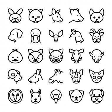 Animals and Birds Vector Icons 8