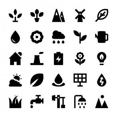 Nature and Ecology Vector Icons 1