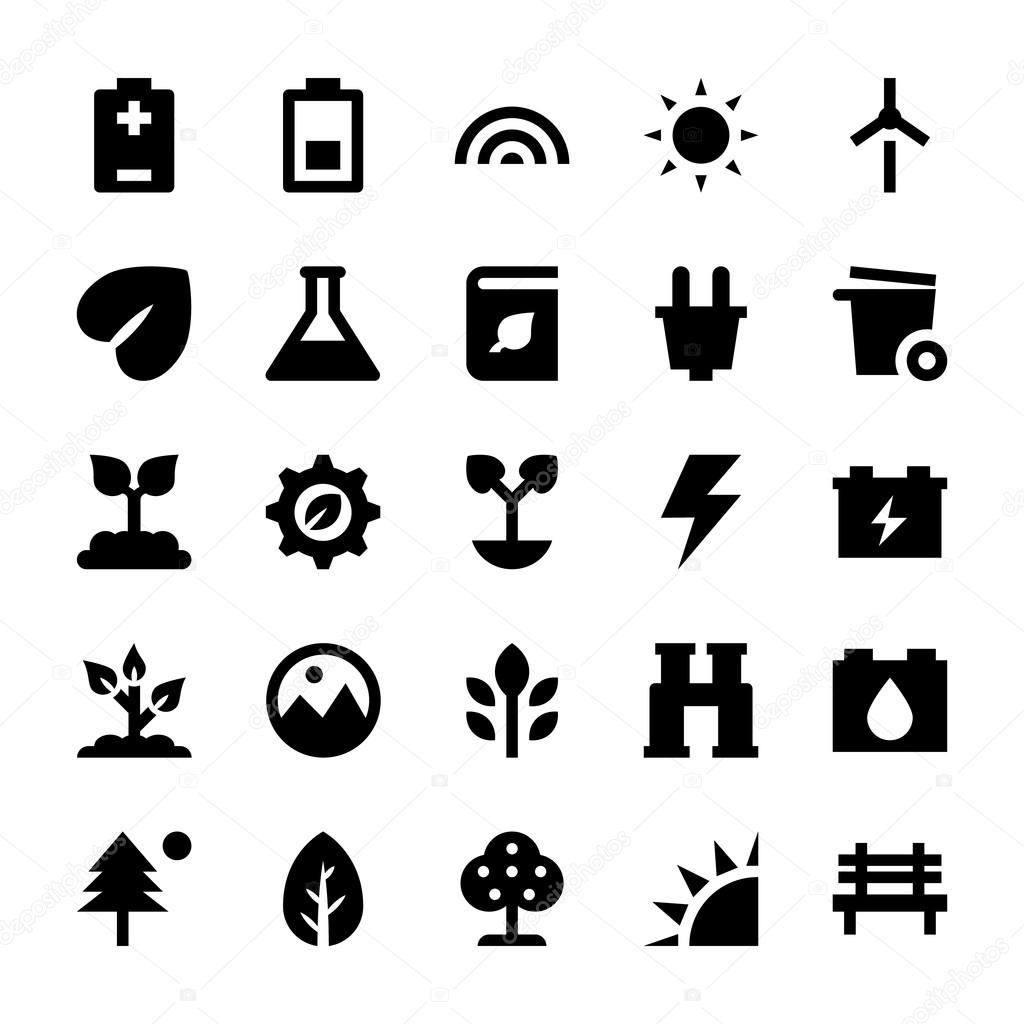 Nature and Ecology Vector Icons 3
