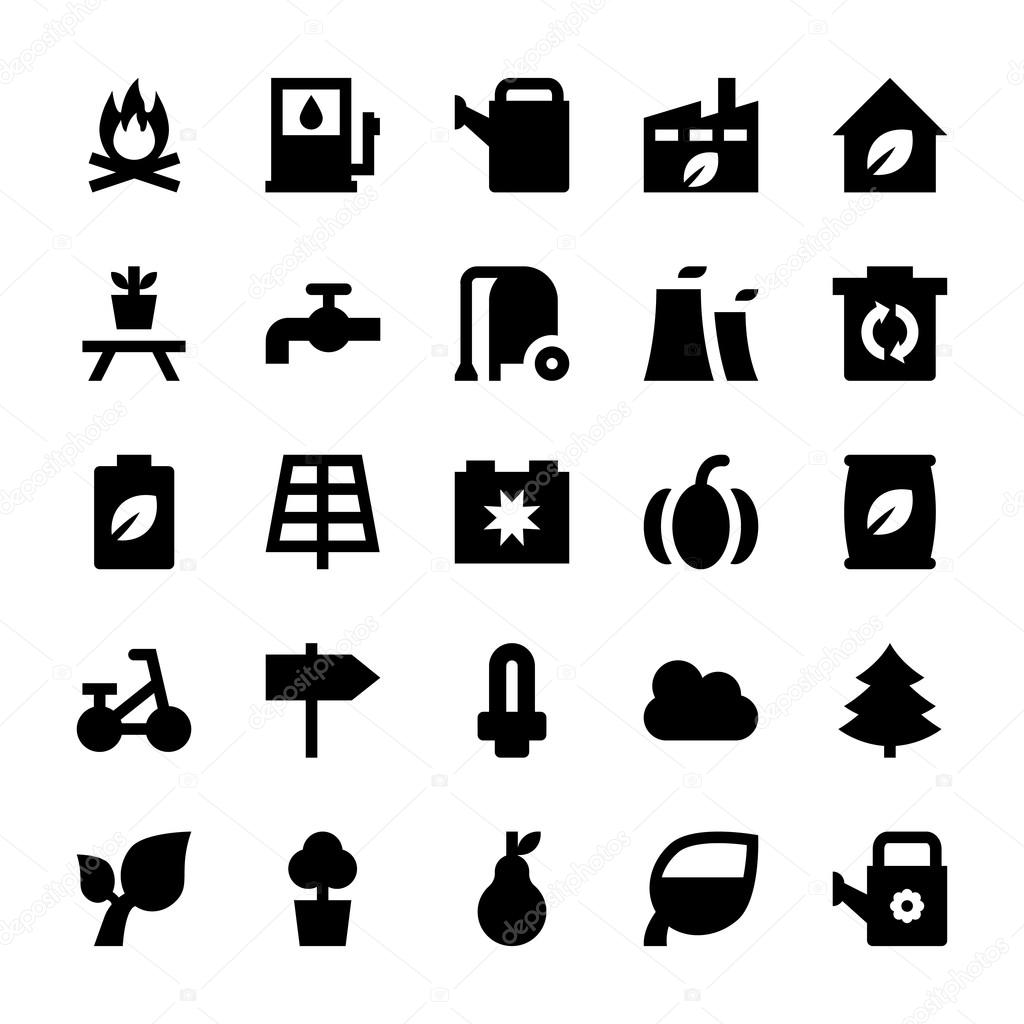 Nature and Ecology Vector Icons 2