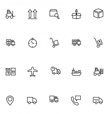 Logistics delivery Vector Icons 2