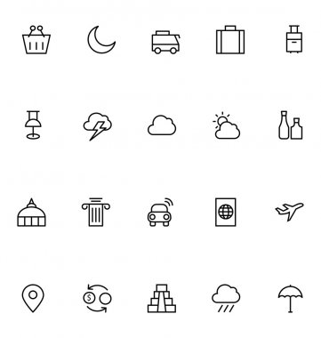 Tourism Line Vector Icons 4