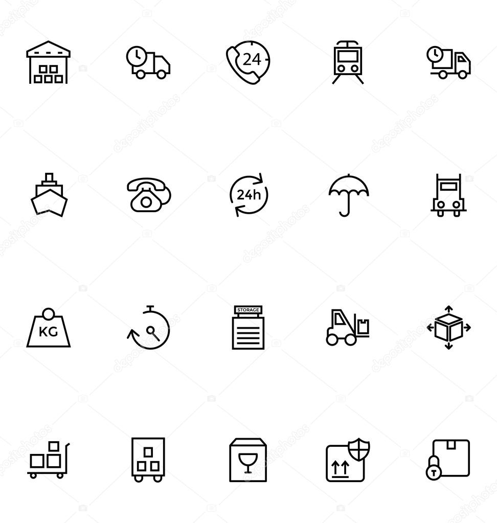 Logistics delivery Vector Icons 1