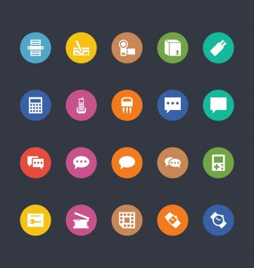 Glyphs Colored Vector Icons 9