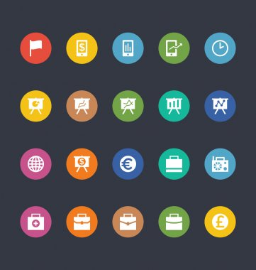 Glyphs Colored Vector Icons 18