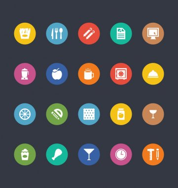Glyphs Colored Vector Icons 22