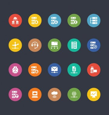 Glyphs Colored Vector Icons 28