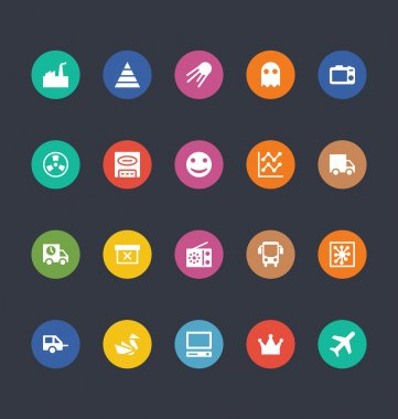 Glyphs Colored Vector Icons 30
