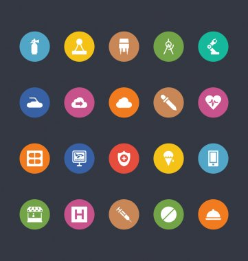 Glyphs Colored Vector Icons 33