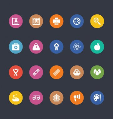 Glyphs Colored Vector Icons 37