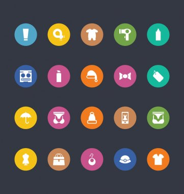 Glyphs Colored Vector Icons 43