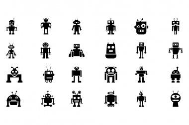 Robots Vector Icons 4