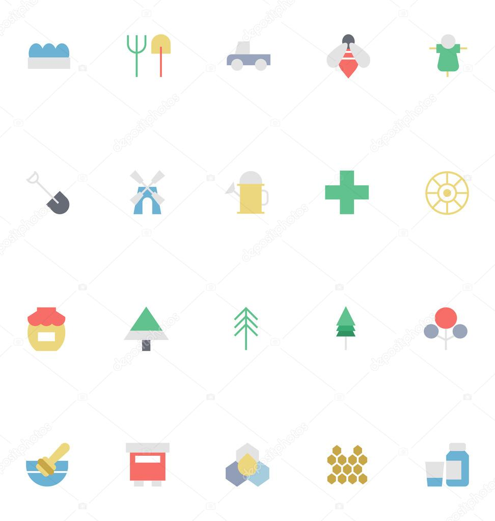 Agriculture Colored Vector Icons 3