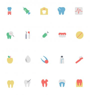 Dental Colored Vector Icons 2