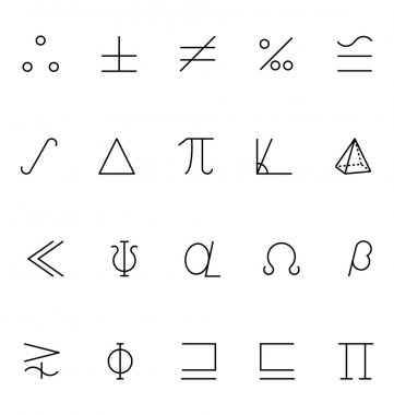 Mathematics Vector Icons 7