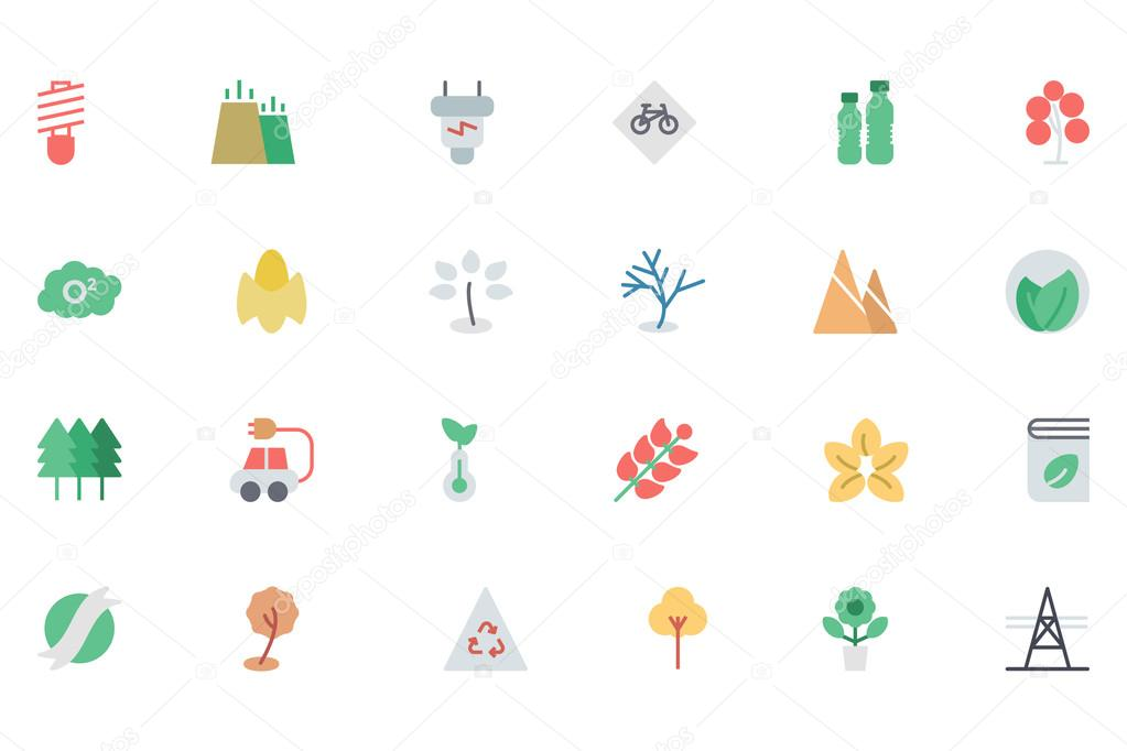 Ecology Colored Vector Icons 3