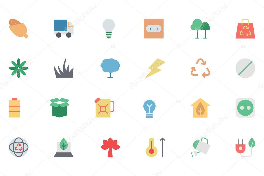 Ecology Colored Vector Icons 4