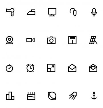 Apple Watch Vector Icons 16