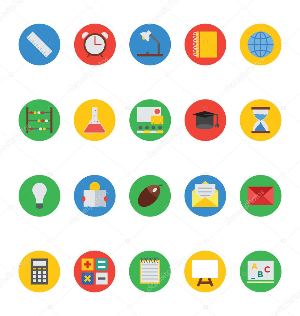 Education Colored Vector Icons 3