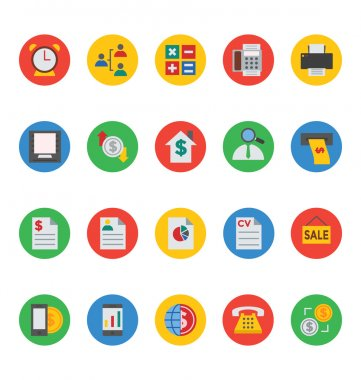Business and Finance Vector Icons 6