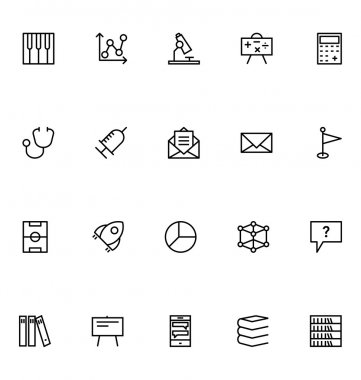 Education Line Vector Icons 7