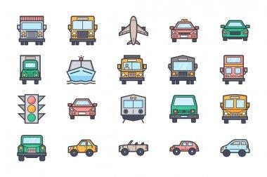 Transport Illustration Icons 4