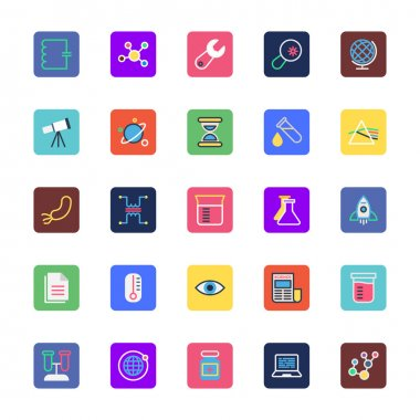 Science and Technology Colored Vector Icons 2