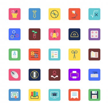 School and Education Colored Vector Icons 3