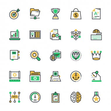 SEO and Marketing Colored Vector Icons 6