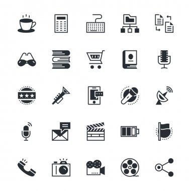 User Interface and Web Colored Vector Icons 7