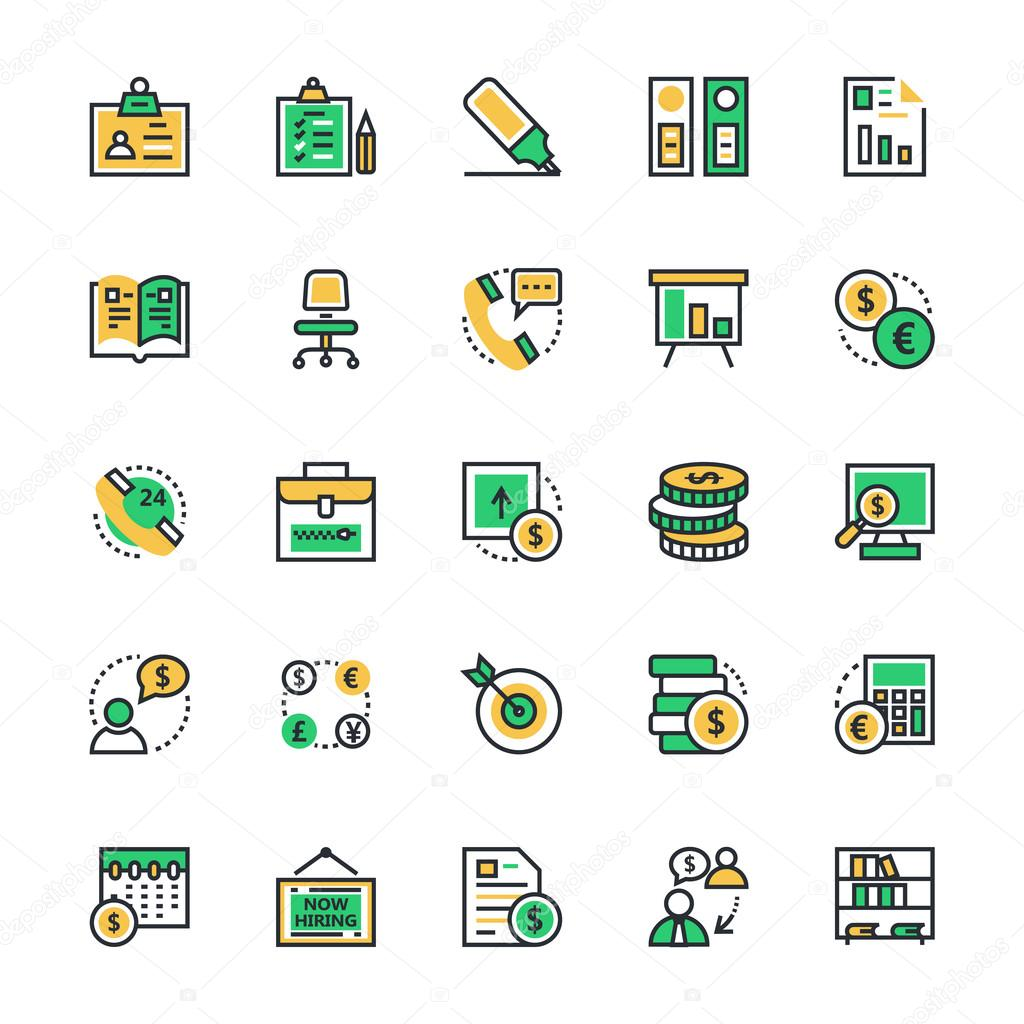 Business & Office Vector Icons 2