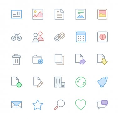 User Interface Colored Line Vector Icons 1