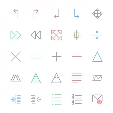 User Interface Colored Line Vector Icons 20