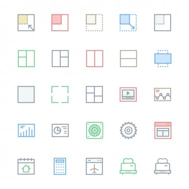 User Interface Colored Line Vector Icons 29