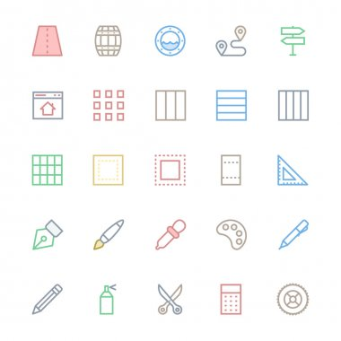 User Interface Colored Line Vector Icons 27