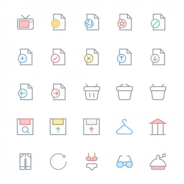 User Interface Colored Line Vector Icons 36